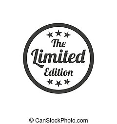 Limited edition badge on white background.