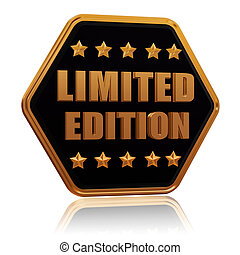 limited edition five star hexagon button - limited edition -...