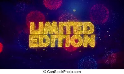 Limited Edition Greeting Text Sparkle Particles on Colored...