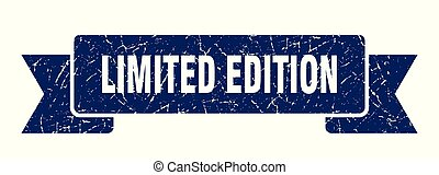 limited edition grunge ribbon. limited edition sign. limited...