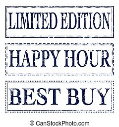 limited edition ,happy hour,best buy, stamp