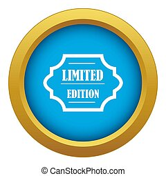 Limited edition icon blue isolated