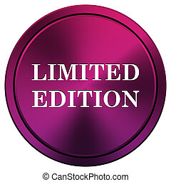 Limited edition icon - Metallic icon with white design on...