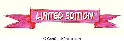 limited edition ribbon - limited edition hand painted ribbon...