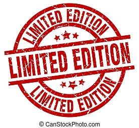 limited edition round red grunge stamp