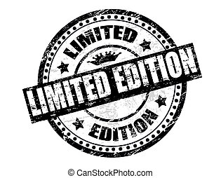 Limited Edition stamp - Abstract grunge office rubber stamp...