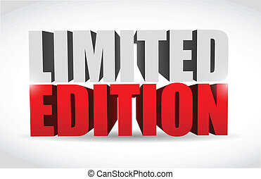 limited edition text 3d message illustration