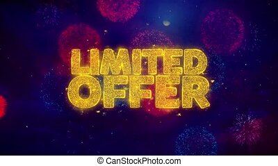 Limited Offer Greeting Text Sparkle Particles on Colored...