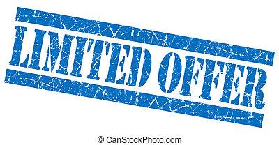 Limited offer grunge blue stamp