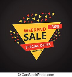 Limited Offer Mega Sale banner. Sale poster. Big sale, special offer, discounts, 30% off. Vector illustration.