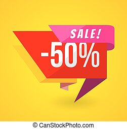 Limited Offer Mega Sale banner. Sale poster. Big sale, special offer, discounts, 50 off. Vector illustration
