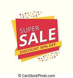 Limited Offer Mega Sale banner. Sale poster. Big sale, special offer, discounts, 50% off. Vector illustration.
