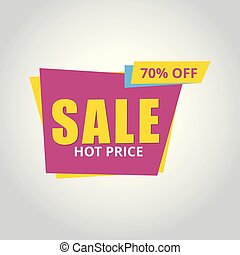 Limited Offer Mega Sale banner. Sale poster. Big sale, special offer, discounts, 70% off. Vector illustration.