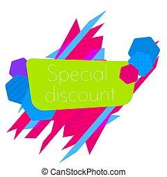 Limited Offer Mega Sale geometrical ultra modern banner. Sale poster. Big sale, special offer, discounts Vector illustration.
