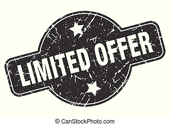 limited offer round grunge isolated stamp