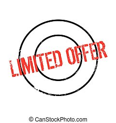 Limited Offer rubber stamp