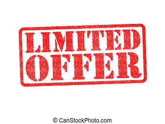 LIMITED OFFER Rubber Stamp over a white background.