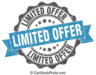 limited offer stamp. sign. seal