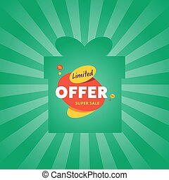 Limited offer sticker on box silhouette