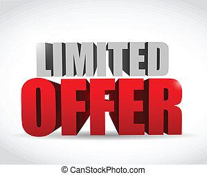 limited offer text 3d message illustration design