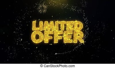 Limited Offer Written Gold Particles Exploding Fireworks...