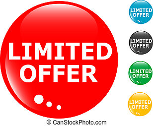 limited offers glass button icon