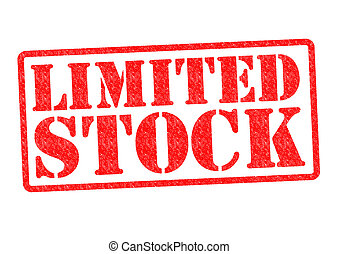 LIMITED STOCK Rubber Stamp over a white background.
