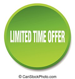 limited time offer green round flat isolated push button