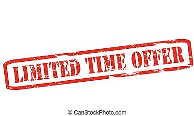Limited time offer - Rubber stamps with text limited time...