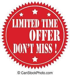 Limited Time Offer-label - Red label with text Limited Time ...