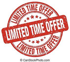 limited time offer red grunge round vintage rubber stamp