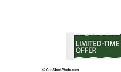 Limited time offer sign shot clip