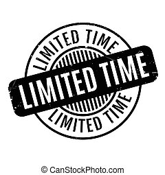 Limited Time rubber stamp