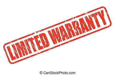 LIMITED WARRANTY red stamp text