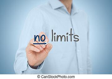 limites, não