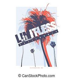 Limitless California vector graphic t-shirt design, poster, ...