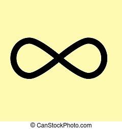Limitless symbol. Flat style icon
