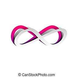 Limitless symbol illustration. Vector. Detachable paper with...
