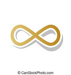 Limitless symbol illustration. Vector. Golden gradient icon...