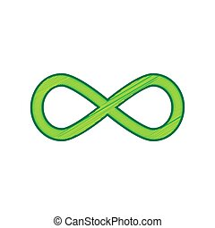 Limitless symbol illustration. Vector. Lemon scribble icon on white background. Isolated