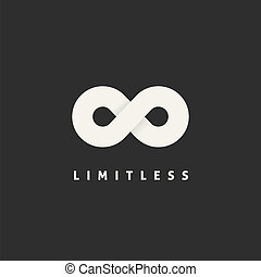 Limitless Vector Concept Symbol Icon or Logo Template