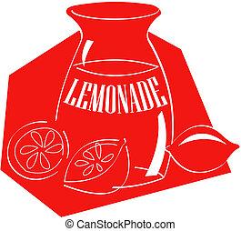 limonada, arte, clip