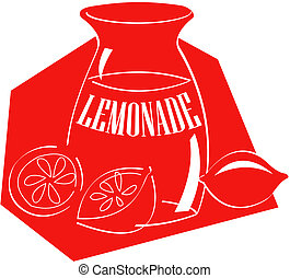 limonade, art, agrafe