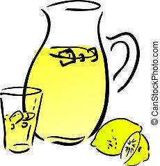 limonade, citrons