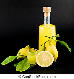 limoncello glass liqueur