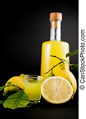 limoncello., italien, boisson, alcoolique