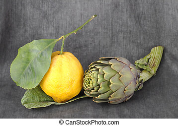 limone, carciofo