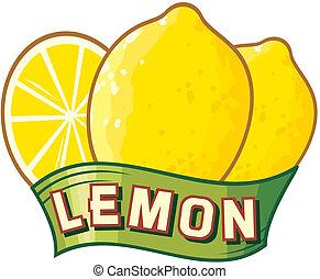limone, etichetta