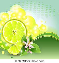 limone, fondo, astratto