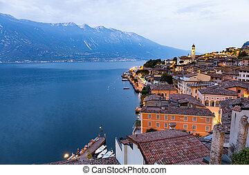 Limone sul Garda at sunset - Limone sul garda - lake of...